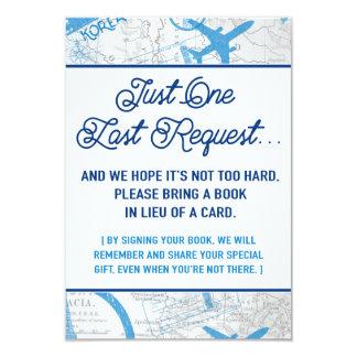 World Awaits Baby Shower Book Request Card