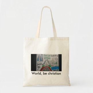 World, be christian bag-Tunisia/Bahrain/bangladesh Tote Bag