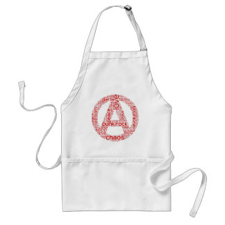 World cloud in anarchy shape aprons