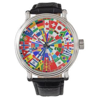 world country flag darts board game travel bulls-e watch