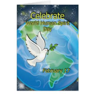 World Human Spirit Day February 17 Card