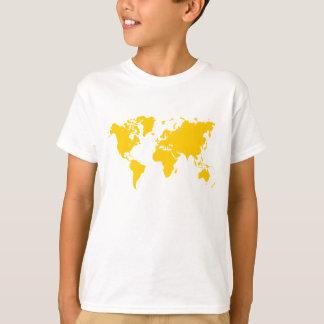 World Map - Amber T-Shirt