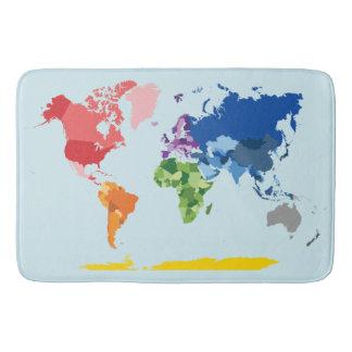 World Map Bath Mat Bath Mats