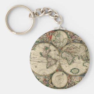 World Map from 1689 Key Ring