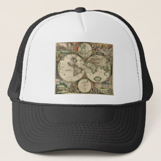 World Map from 1689 Trucker Hat