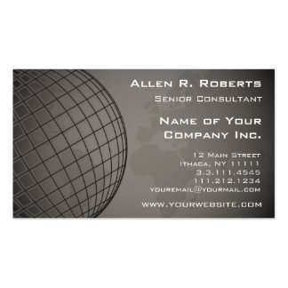 World Map Global Marketing Sales Corporation Pack Of Standard Business Cards