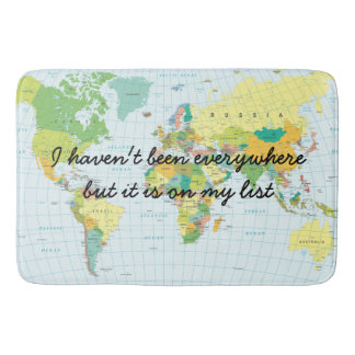 World Map - I haven't been everywhere... Bath Mat
