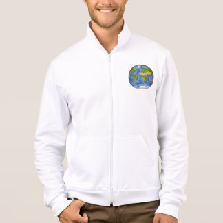 World map in a circle jacket