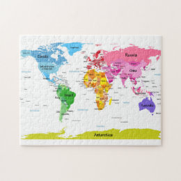 World map canvas toys and games zazzle world map jigsaw puzzle gumiabroncs Image collections