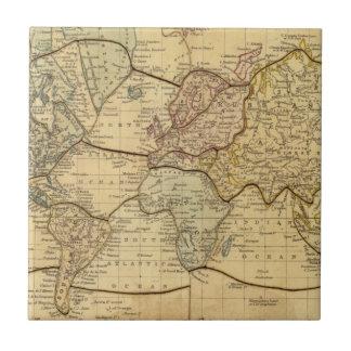 World map on Mercators Projection Tile