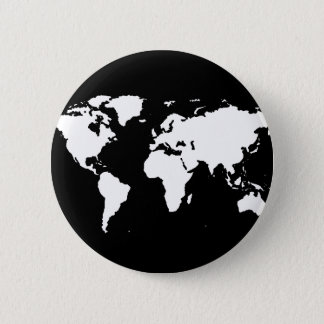 world maps ~ customizable color 6 cm round badge