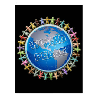 WORLD PEACE HANDS AROUND THE WORLD POST CARDS