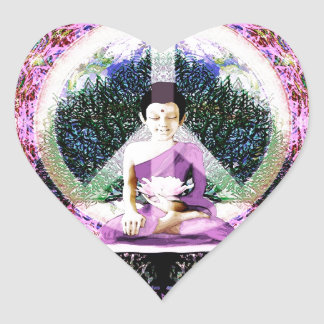World Peace Meditation and Prayers Heart Sticker