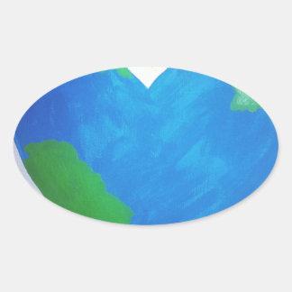 World Peace Oval Sticker