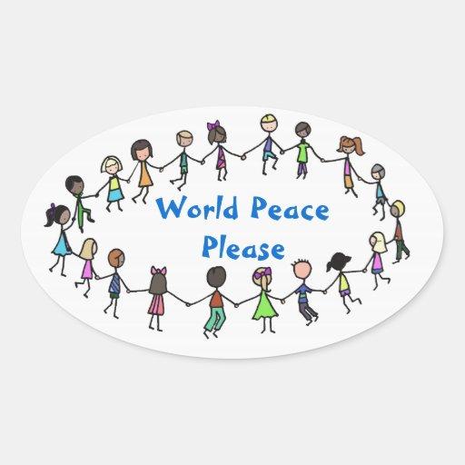 World Peace Please sticker
