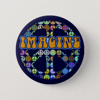 World Peace - Retro 6 Cm Round Badge