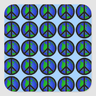 World Peace Signs Square Sticker