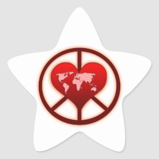World Peace Star Sticker