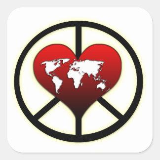 World Peace Square Sticker