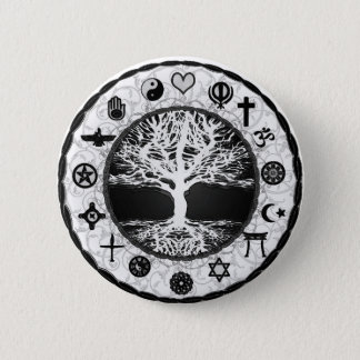 World Religions Tree of Life 6 Cm Round Badge