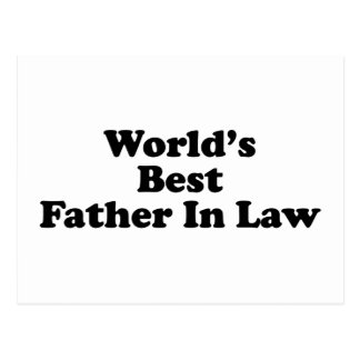 World s Best Father In Law Postcards