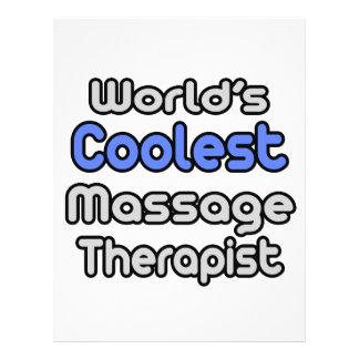 World s Coolest Massage Therapist Flyer Design