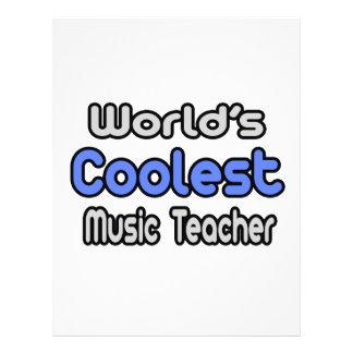 World s Coolest Music Teacher Flyers