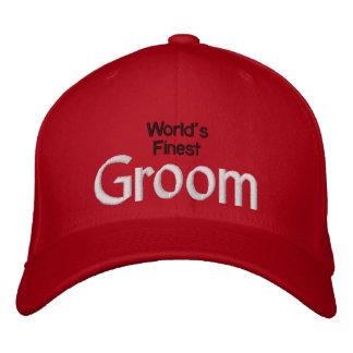 World s Finest Groom Embroidered Baseball Caps