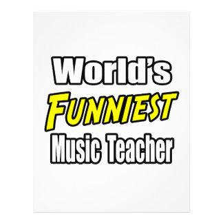 World s Funniest Music Teacher Flyer Design