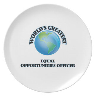 World s Greatest Equal Opportunities Officer Party Plate