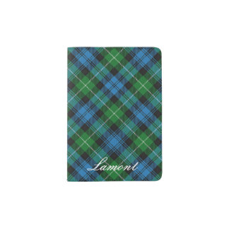 World Traveller Clan Lamont Tartan Plaid Passport Holder