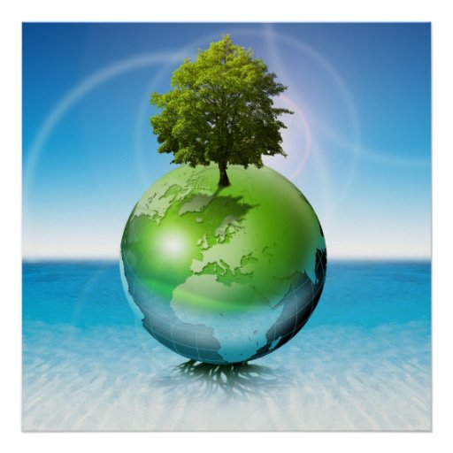 World tree -  ecology concept poster