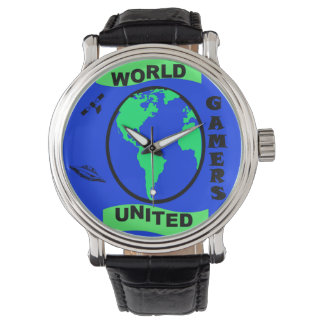 World United Gamers Vintage Leather Watch