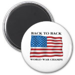 World War Champs Magnets