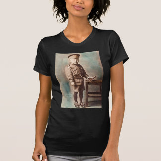 World War I Boy and Toy Cannon Hand Tinted T Shirt