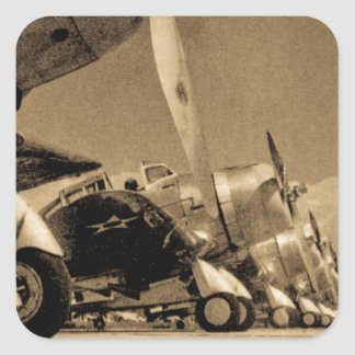 World War II Douglas SBD Dauntless Bomber Planes Square Sticker