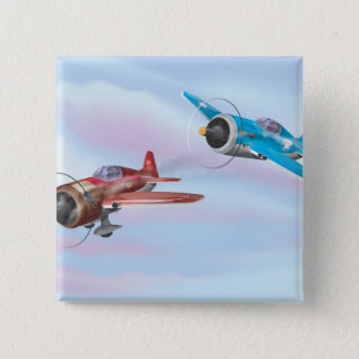 World War Two Fighter Aircraft 15 Cm Square Badge