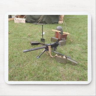 World War Two Machine Gun Mouse Pad