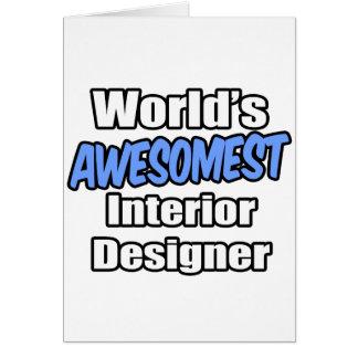 World39s Awesomest Interior Designer Card