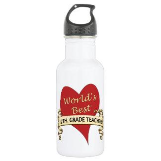 World's Best 12th. Grade Teacher 532 Ml Water Bottle