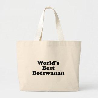 World's Best Botswanan Large Tote Bag
