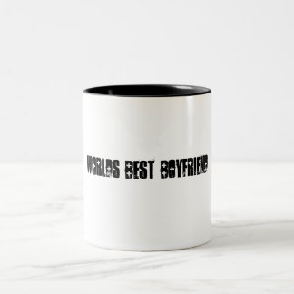 Worlds Best Boyfriend Two-Tone Coffee Mug