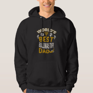 World's Best Bullmastiff Dad Graphic Hoodie