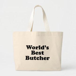 Worlds Best Butcher Large Tote Bag