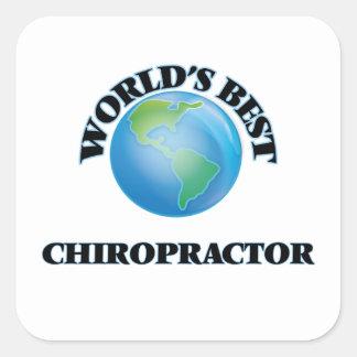 World's Best Chiropractor Square Sticker