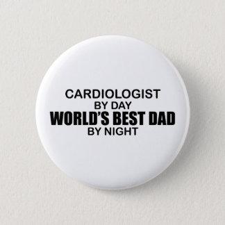 World's Best Dad - Cardiologist 6 Cm Round Badge