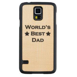 World's Best Dad Carved Maple Galaxy S5 Case