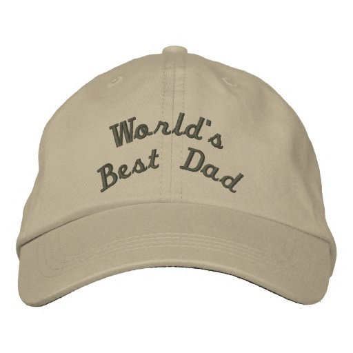 World's Best Dad Embroidered Baseball Cap