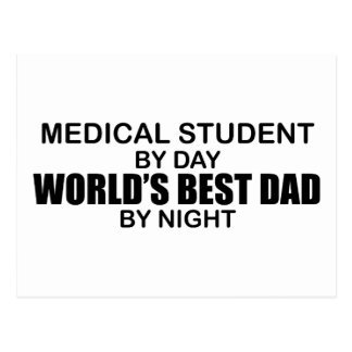 World's Best Dad - Medical Student Postcard