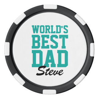 World's Best Dad Photo Poker Chips
